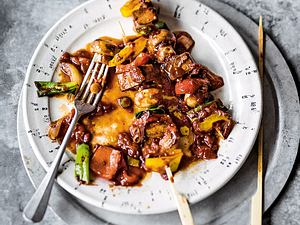 Scharfes Tofu-Pilz-Schaschlik Rezept