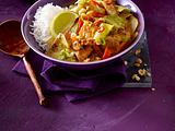 Scharfes Weißkohl-Curry mit Hähnchen Rezept