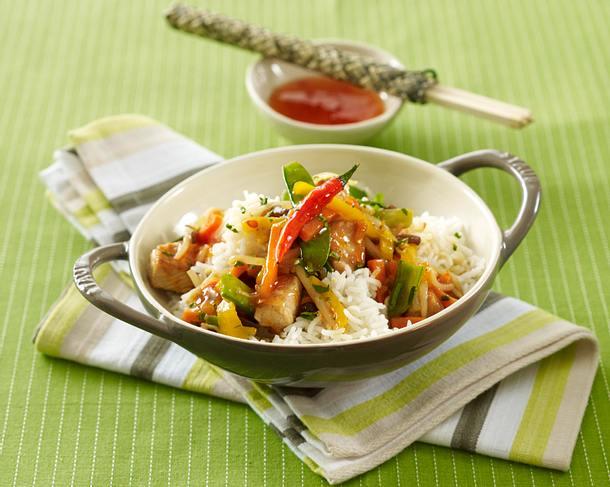 Scharfes Wokgemüse mit Pute Rezept
