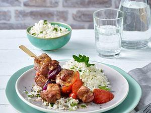 Schaschlik mit Petersilien-Reis Rezept
