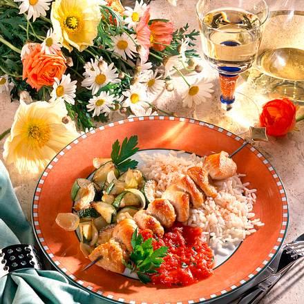 Schaschlik mit Zucchini Rezept
