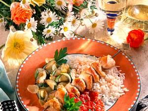 Schaschlik mit Zucchini (Diabetiker) Rezept