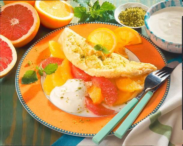 Schaumomlett mit Zitrusfrüchten Rezept