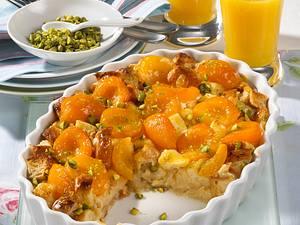 Scheiterhaufen mit Aprikosen und Pistazien Rezept