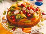 Schichtkäsekuchen mit buntem Obst Rezept