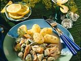 Schillerlocken mit Zucchini und Dill-Senfsoße Rezept