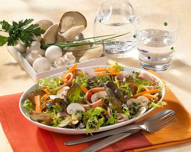 Schinken-Champignon-Salat mit Möhren Rezept