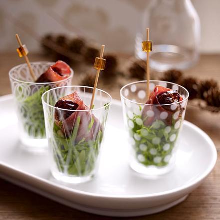 Schinken-Datteln mit Gorgonzola Rezept