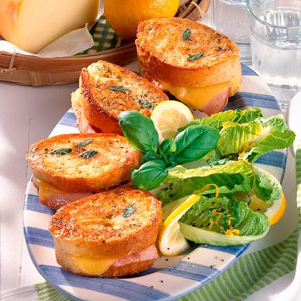 Schinken-Käse-Ciabatta  Rezept