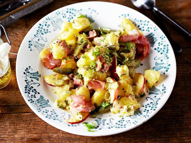 Schinken-Kartoffelsalat mit Bergkäse Rezept