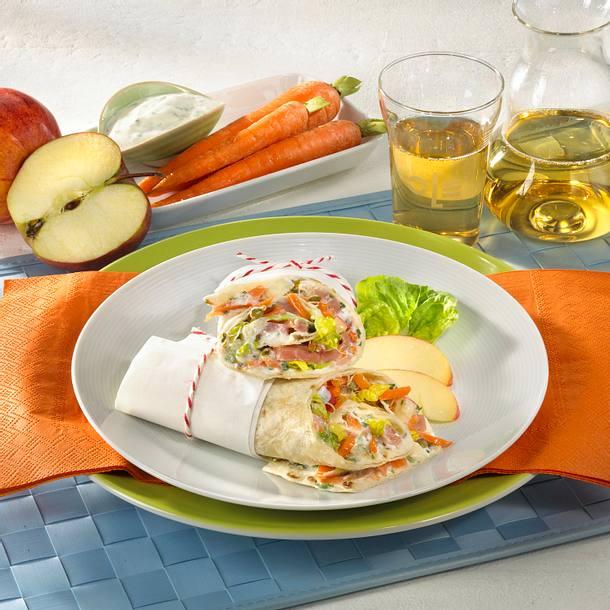 Schinken-Möhren-Wrap Rezept