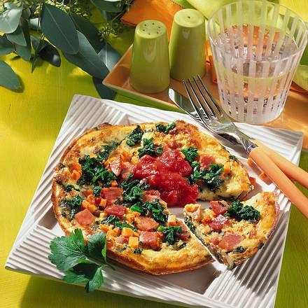 Schinken-Spinat-Omelett Rezept