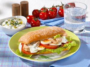 Schlemmer-Ciabatta mit Thunfisch & Ei Rezept