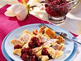 Schmarrn mit Kirschkompott (Sauerkirschen aus dem Glas) Rezept