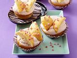 Schmetterlings-Muffins mit Erdbeersahne Rezept