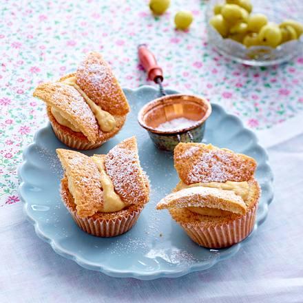 Schmetterlings-Muffins mit Stachelbeerkompott Rezept