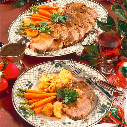 Schmorbraten mit Schalotten & Möhren Rezept