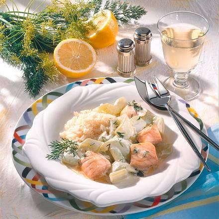 Schmorgurke mit Lachs Rezept