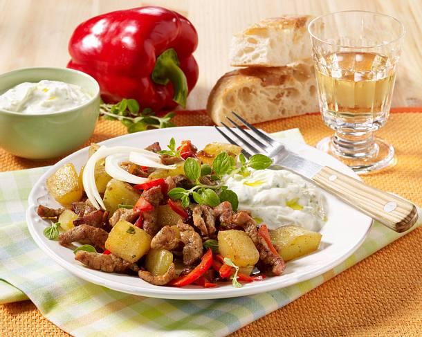 Schmorgurken-Gyros-Pfanne Rezept