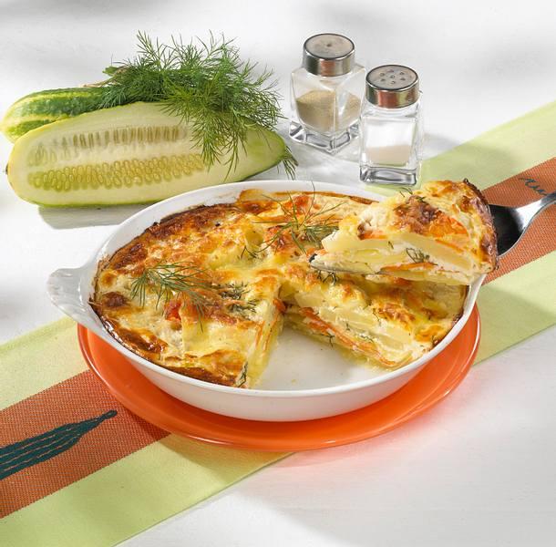 Schmorgurken-Kartoffel-Gratin Rezept