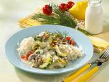Schmorgurken-Reis-Pfanne Rezept