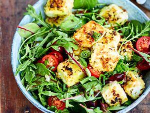 Schnäppchen-Salat mit Knusper-Feta Rezept