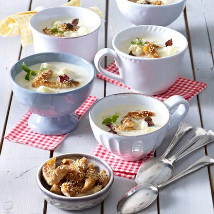 Schnelle Blumenkohl-Kokossuppe Rezept