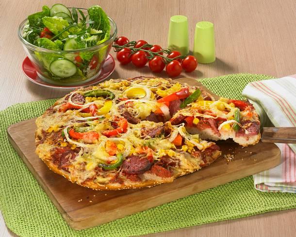 Schnelle Fladenbrot-Pizza Rezept