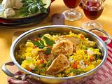 Schnelle Geflügel-Paella Rezept