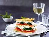 Schnelle Gemüselasagne mit Blattspinat Rezept