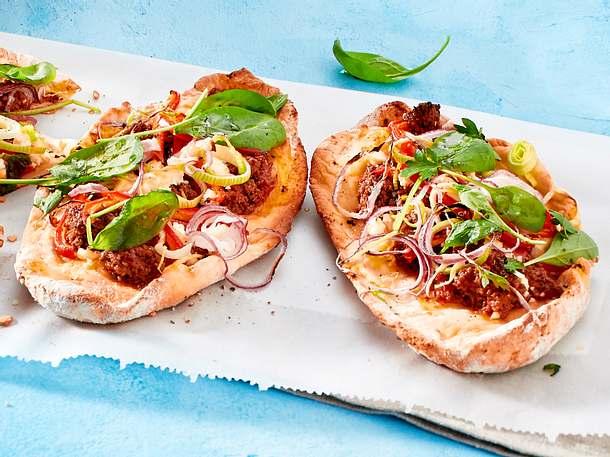 Schnelle Hackfleisch-Pizza Rezept