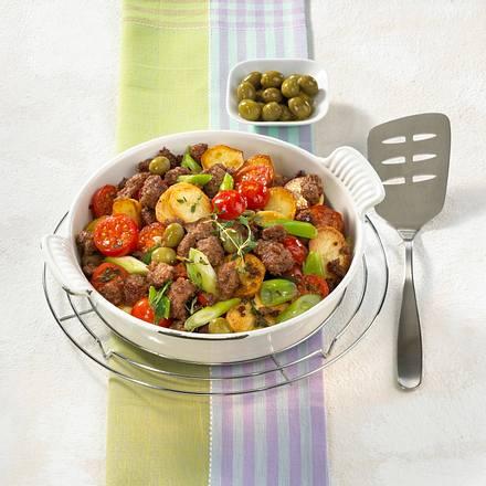 Schnelle Hackpfanne mit Oliven Rezept
