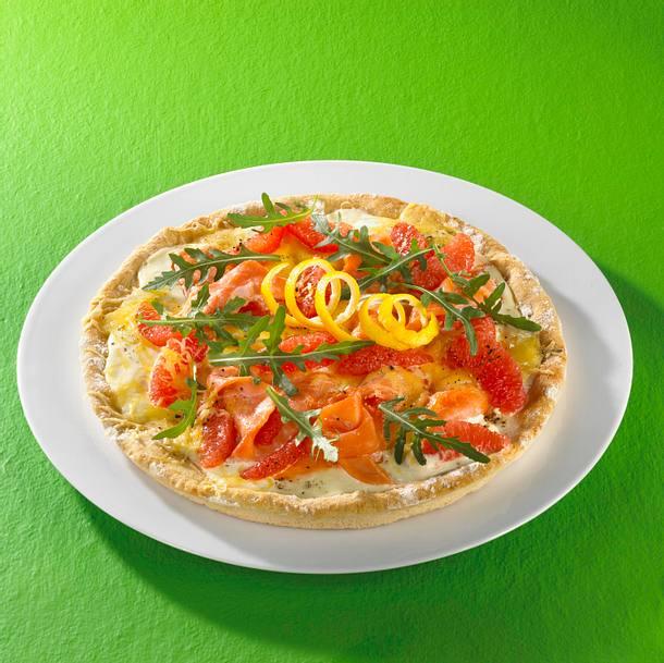 Schnelle Lachs-Pizza Rezept