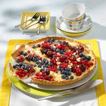 Schnelle Pudding-Obst-Tarte Rezept