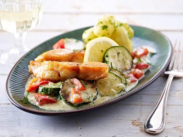 Schnelle Zucchini-Fisch-Pfanne Rezept