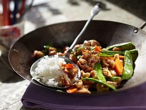 Schneller Asia-Wok mit Cashewnüssen Rezept