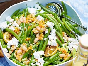 Schneller Bohnensalat mit Feta Rezept
