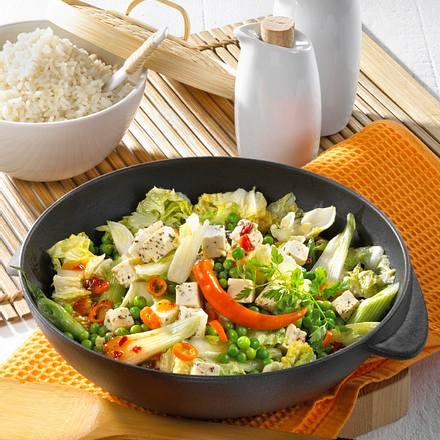 Schnelles Wok-Gemüse mit Schafskäse Rezept