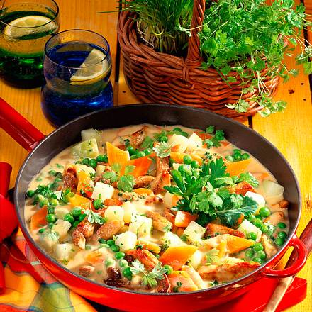 Schnitzel-Gemüsepfanne Rezept