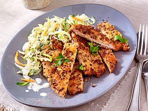 Schnitzel im Sauseschritt mit Spitzkohl-Slaw Rezept