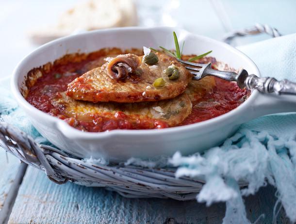 Schnitzel in Pizzaiola-Soße Rezept