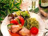 Schnitzel à la Cordon bleu mit Salat Rezept