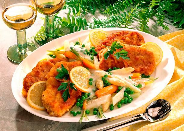 Schnitzel mit Gemüse-Allerlei Rezept
