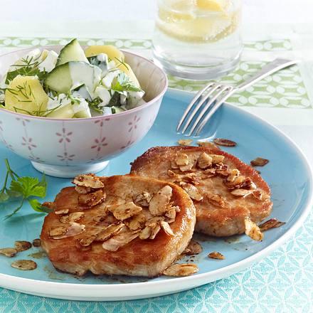 Schnitzel mit Gurken-Kartoffelsalat Rezept