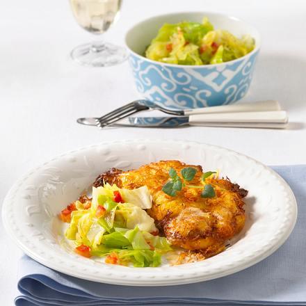Schnitzel mit Kartoffelkruste Rezept