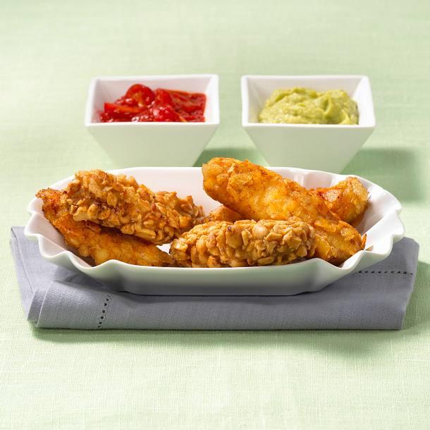 Schnitzel-Nuggets mit Dips Rezept