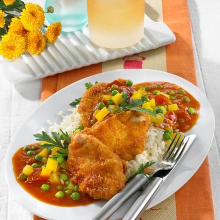 Schnitzel-Nuggets mit Zigeunersoße Rezept