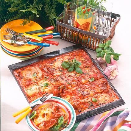 Schnitzel-Pizza vom Blech Rezept