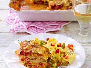 Schnitzel-Schichtfleisch nach Puszta Art Rezept