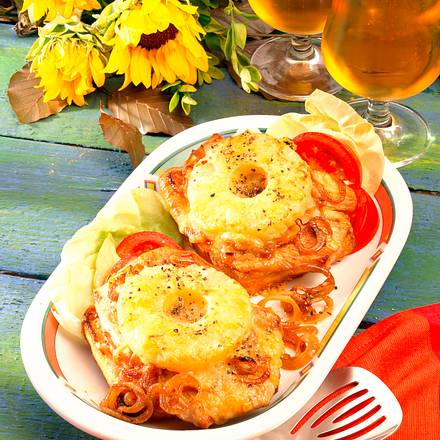 Schnitzel-Toast Hawaii Rezept